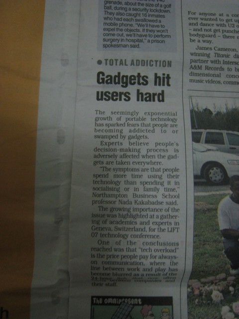 Gadgets hit users hard - mx